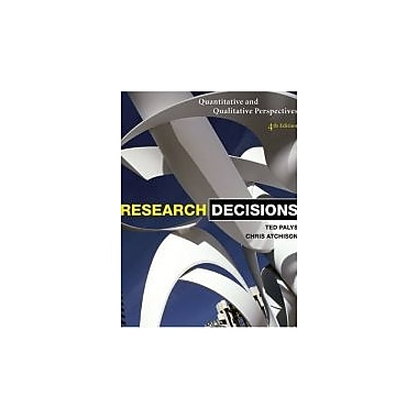 RESEARCH DECISIONS CANADIAN E, Used Book (9780176102951)