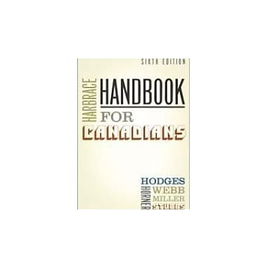 Harbrace Handbook for Canadians: Sixth Edition, Used Book (9780176225094)