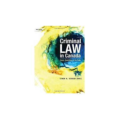 CND ED Criminal Law in Canada: Cases, Questions and the Code, Used Book (9780176501723)
