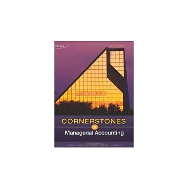 Cornerstones of Managerial Accounting, New Book (9780176503611)