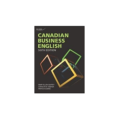 Canadian Business English , 6th Edition, Used Book (9780176509439)