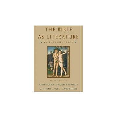 The Bible As Literature: An Introduction, New Book (9780195179071)