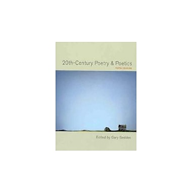 20th-century Poetry & Poetics, Used Book (9780195422092)