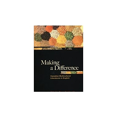 Making a Differnce: Canadian Multicultural Literature, New Book (9780195422887)
