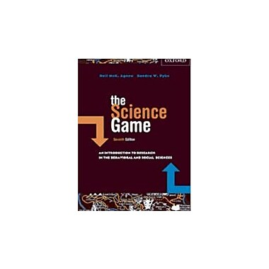 The Science Game: An Introduction to Research in the Social Sciences, Used Book (9780195423211)