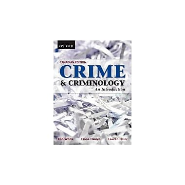 Crime and Criminology: An Introduction, Used Book (9780195426090)