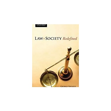 Law and Society Redefined, New Book (9780195429800)