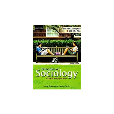 Principles of Sociology: Canadian Perspectives, New Book (9780195429824)