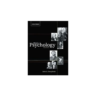A History of Psychology, New Book (9780195430219)