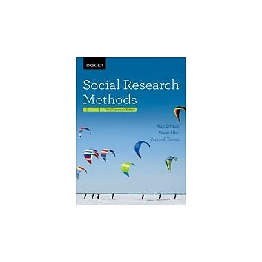 Social Research Methods Third Canadian Edition