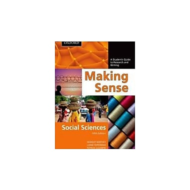 Making Sense in the Social Sciences: A Student's Guide to Research and Writing, Used Book (9780195445831)