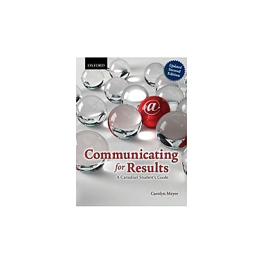 Communicating for Results: A Canadian Student's Guide, Used Book, (019900630X)