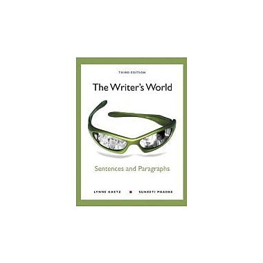 The Writer's World: Sentences and Paragraphs (3rd Edition), Used Book (9780205781799)