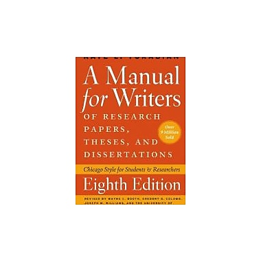 A Manual for Writers of Research Papers, Theses, and Dissertations, New (9780226816388)