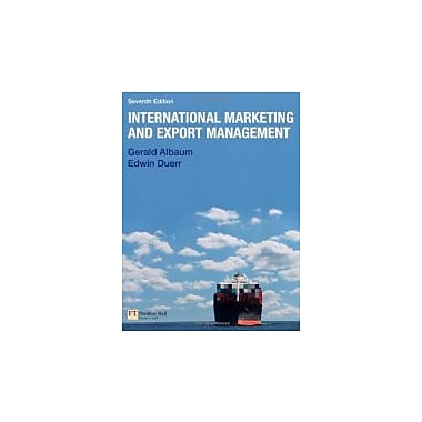 International Marketing & Export Management (7th Edition)