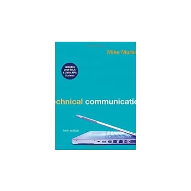 Technical Communication with 2009 MLA and 2010 APA Updates, New Book (9780312692162)