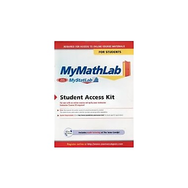 MyMathLab: Student Access Kit, New Book (9780321199911)