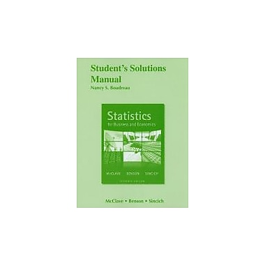 Student Solutions Manual for Statistics for Business and Economics, New Book (9780321641755)