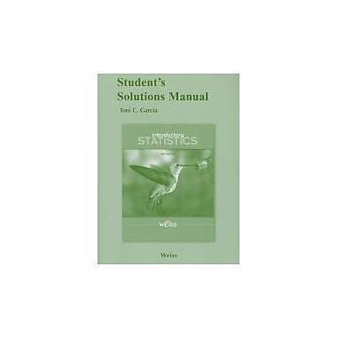 Student Solutions Manual for Introductory Statistics, New Book (9780321691316)