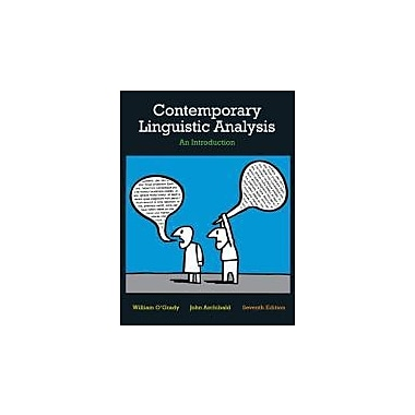 Contemporary Linguistic Analysis: An Introduction, 7th Edition with Companion Website, New (9780321753687)