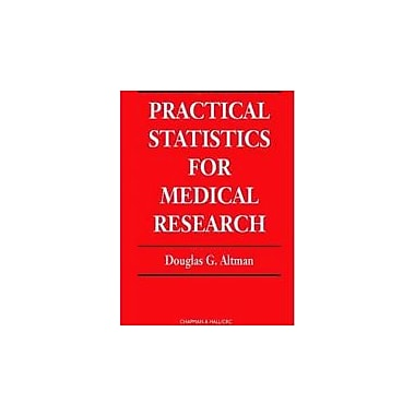 Practical Statistics for Medical Research (Chapman & Hall/CRC Texts in Statistical Science), Used Book (9780412276309)