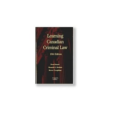 Learning Canadian Criminal Law, New Book (9780459243920)