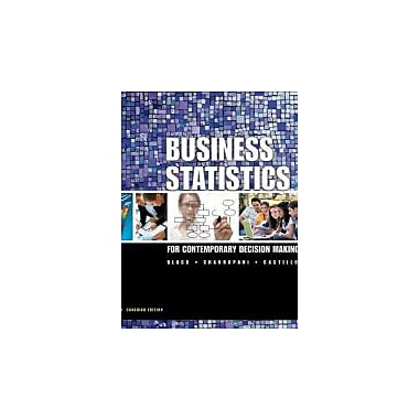 Business Statistics: For Contemporary Decision Making [Hardcover] by Black, Ken, Used Book (9780470157046)