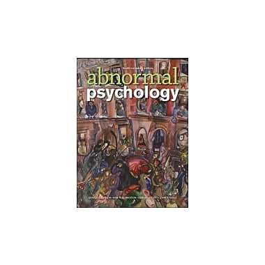 Abnormal Psychology, Fourth Canadian Edition, New Book (9780470161036)