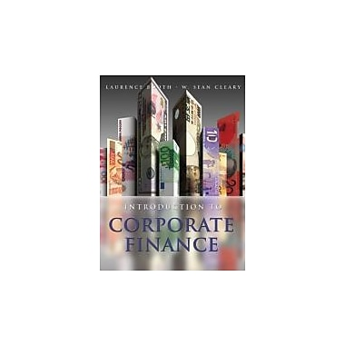Introduction to Corporate Finance, New Book (9780470161104)