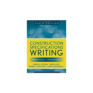 Construction Specifications Writing: Principles and Procedures, New Book (9780470380369)