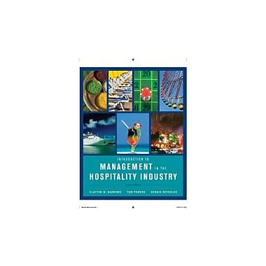 Introduction to Management in the Hospitality Industry, New Book (9780470399743)