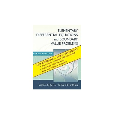 Elementary Differential Equations and Boundary Value Problems, Ninth Edition Binder Ready Version, Used Book (9780470404058)