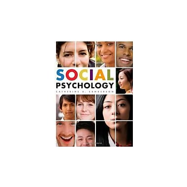 Social Psychology, New Book (9780471250265)