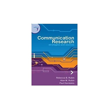 Communication Research: Strategies and Sources, New Book (9780495095880)
