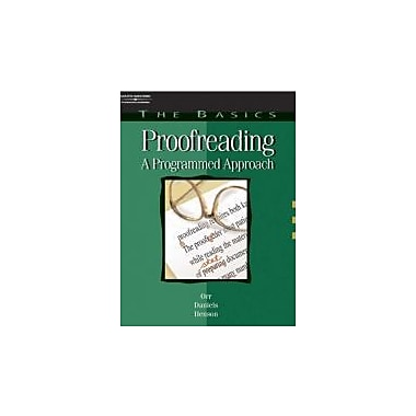 The Basics: Proofreading: A Programmed Approach (Basics of Proofreading), New Book (9780538724524)
