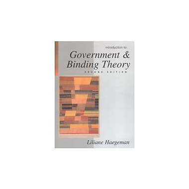 Introduction to Government and Binding Theory, Used Book (9780631190677)
