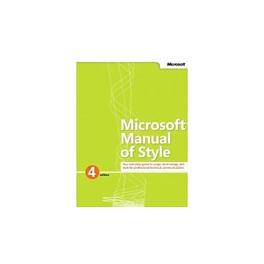 Microsoft Manual of Style (4th Edition), New Book (9780735648715)