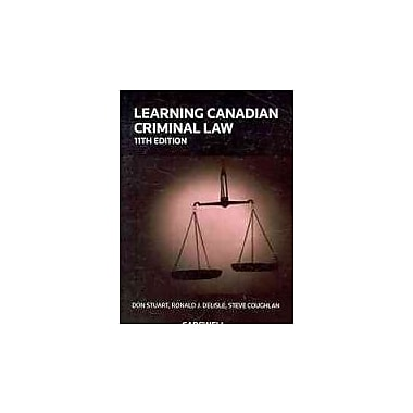 Learning Canadian Criminal Law, New Book, (779821254)