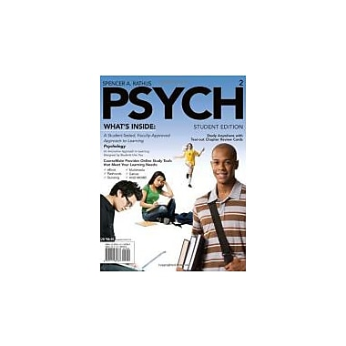 PSYCH (with Review Cards, CourseMate Printed Access Card) (Engaging 4ltr Press Titles in Psychology), New Book (9781111185787)