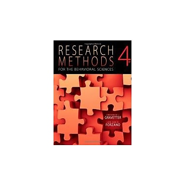 Research Methods for the Behavioral Sciences, Used Book (9781111342258)