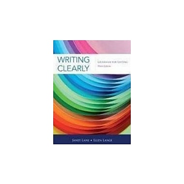 Writing Clearly: Grammar for Editing, 3rd Edition, New Book (9781111351977)