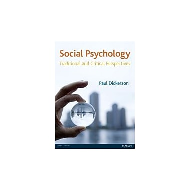 Social Psychology: Traditional & Critical Perspectives, New Book (9781405873932)