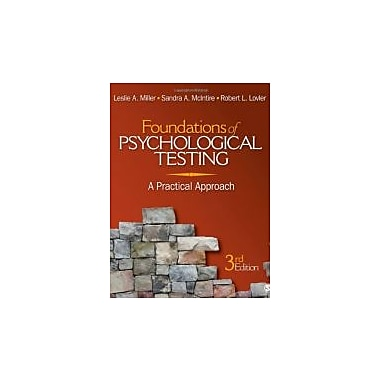 Foundations of Psychological Testing: A Practical Approach, New Book (9781412976398)
