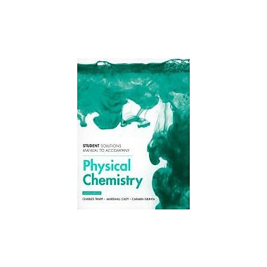 Atkins' Physical Chemistry: Student's Solutions Manual, New Book (9781429231282)
