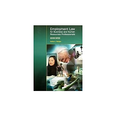 Employment Law for Business and Human Resources Professionals Second Edition, New Book (9781552393536)
