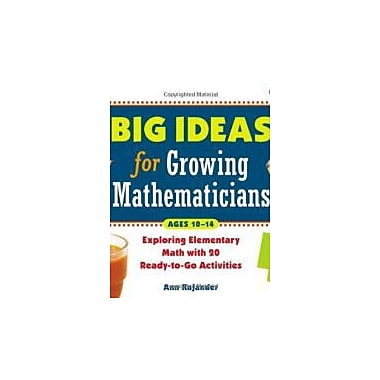 Big Ideas for Growing Mathematicians: Exploring Elementary Math with 20 Ready-to-Go Activities, New Book (9781569762127)