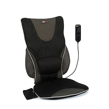 Obusforme Backrest Support Drivers Seat Cushion with Adjustable Lumbar Pad, Heat and Massage