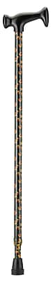 Nova Medical Products Aluminum T Handle Cane, Black with Yellow Poppies