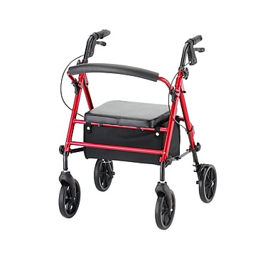 Nova Medical Products Groove Rolling Walker, Red