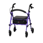 "Nova Medical Products Journey Rolling Walker 23.75"" x 22"", Purple"